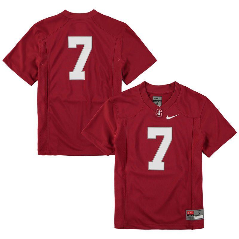 7 Stanford Cardinal Nike Youth Replica Football Jersey Cardinal Stanford Soccer Stanford Cardinal Football Jerseys