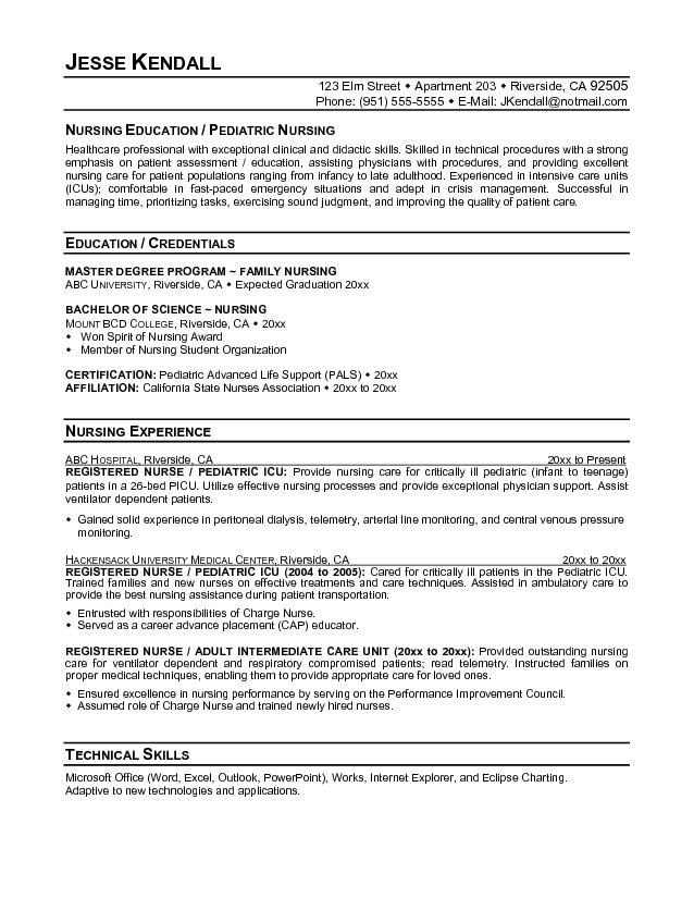 10 RN Resumes Examples Sample Resumes Career Pinterest