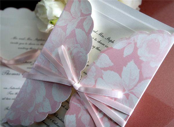 Pink Watercolor Einlaungskarten Hochzeit Einsteckkarten Gestalten Elegante  Einladungskarten Hochzeit 2014 / 2015 Bei Optimalkarten.de