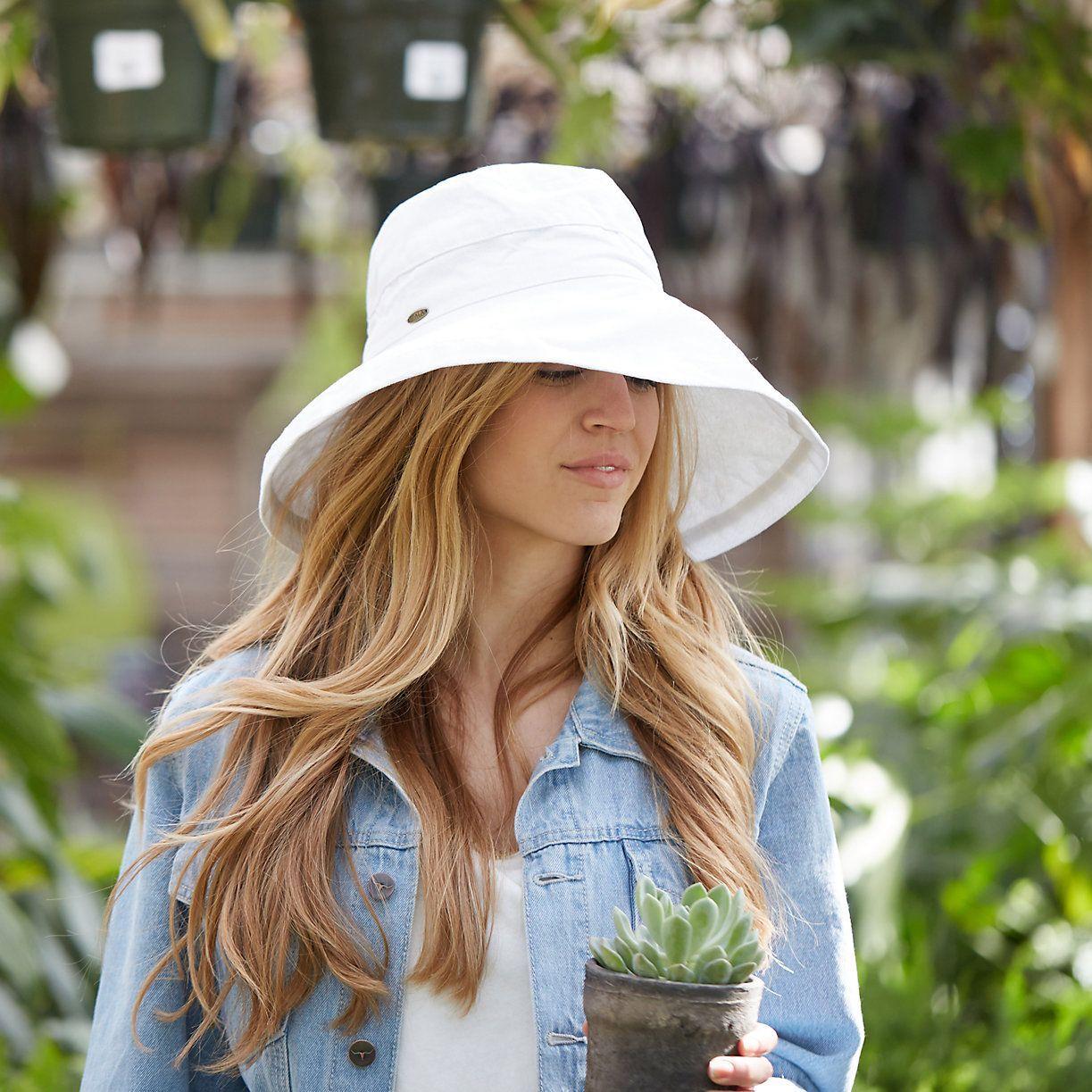 1be5aeb3 Cotton Crusher Hat in Outdoor Living Sunscreen + Hats at Terrain  #sunhatsforwomenbeach