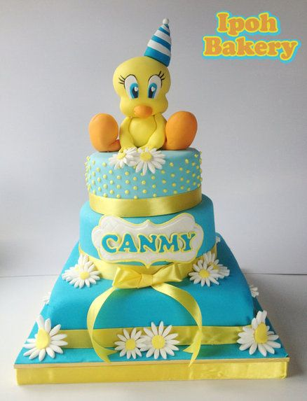 Sensational Tweety Bird Cake Cartoon Cake Cupcake Birthday Cake Funny Birthday Cards Online Kookostrdamsfinfo