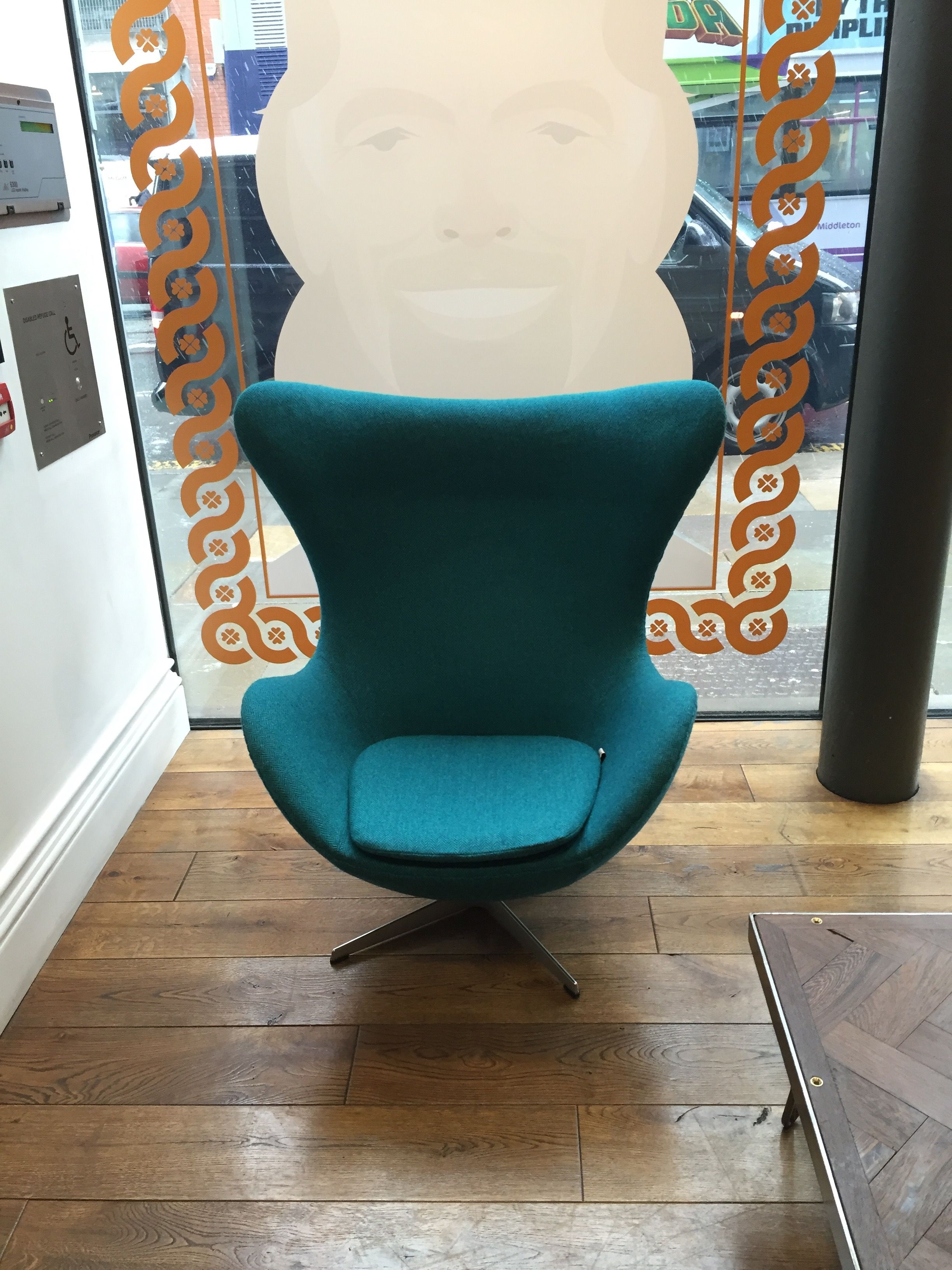 Reupholster Egg Chair Arne Jacobsen Vintage Egg Chair With Harris Tweed Turquoise