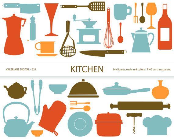 Kitchen Clipart S Retro Kitchen Utensils Scrapbook Supplies
