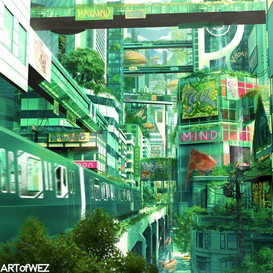 Top Scoring Links Solarpunk Futuristic City Concept Art Truck Art