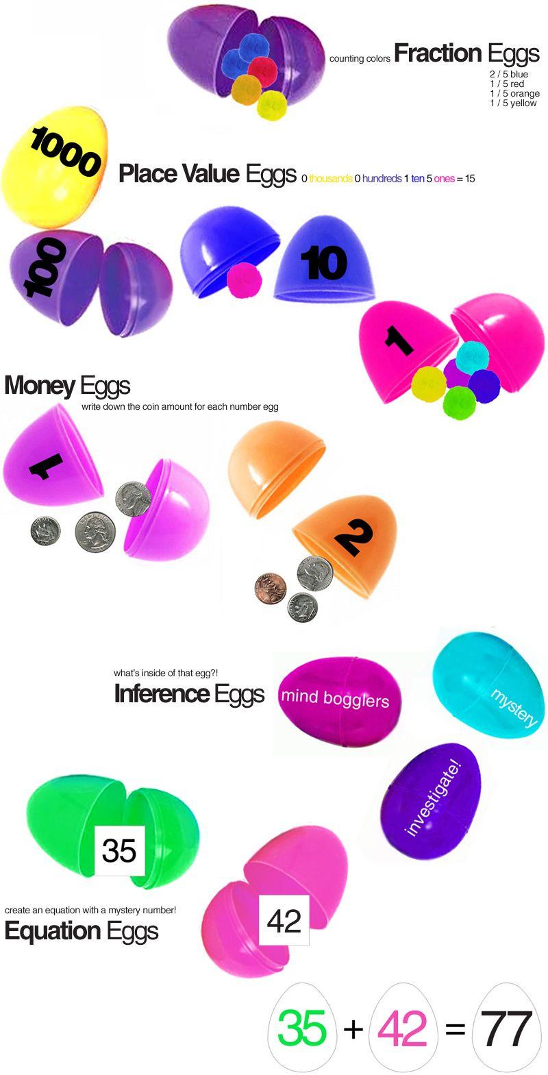 Plastic Egg Learning Activities At E Is For Explore Plastic Eggs Shkolniki Matematika Dlya Detej [ 1569 x 800 Pixel ]