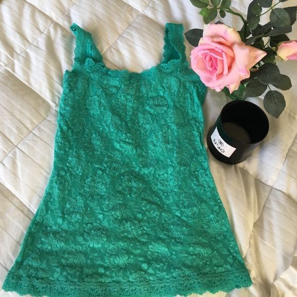 "❤$15 DEAL of the day! Lace tank by hanky panky❤️ Perfect for Valentine's Day!  Soft lace fabric tank from ""Hanky Panky"" brand. Intended as sleepwear, worn once.  Size small. 100% nylon, hand wash cold water. Hanky Panky Intimates & Sleepwear Chemises & Slips"
