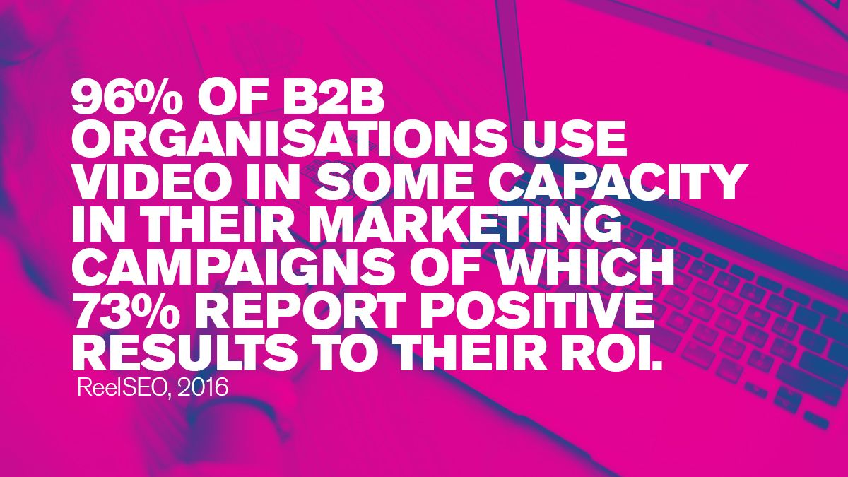 96% of B2B organisations use video in some capacity in their marketing campaigns. #Blogs #ContentMarketing #Blogging #YouTube #videos #Digitalmarketing #videomarketing