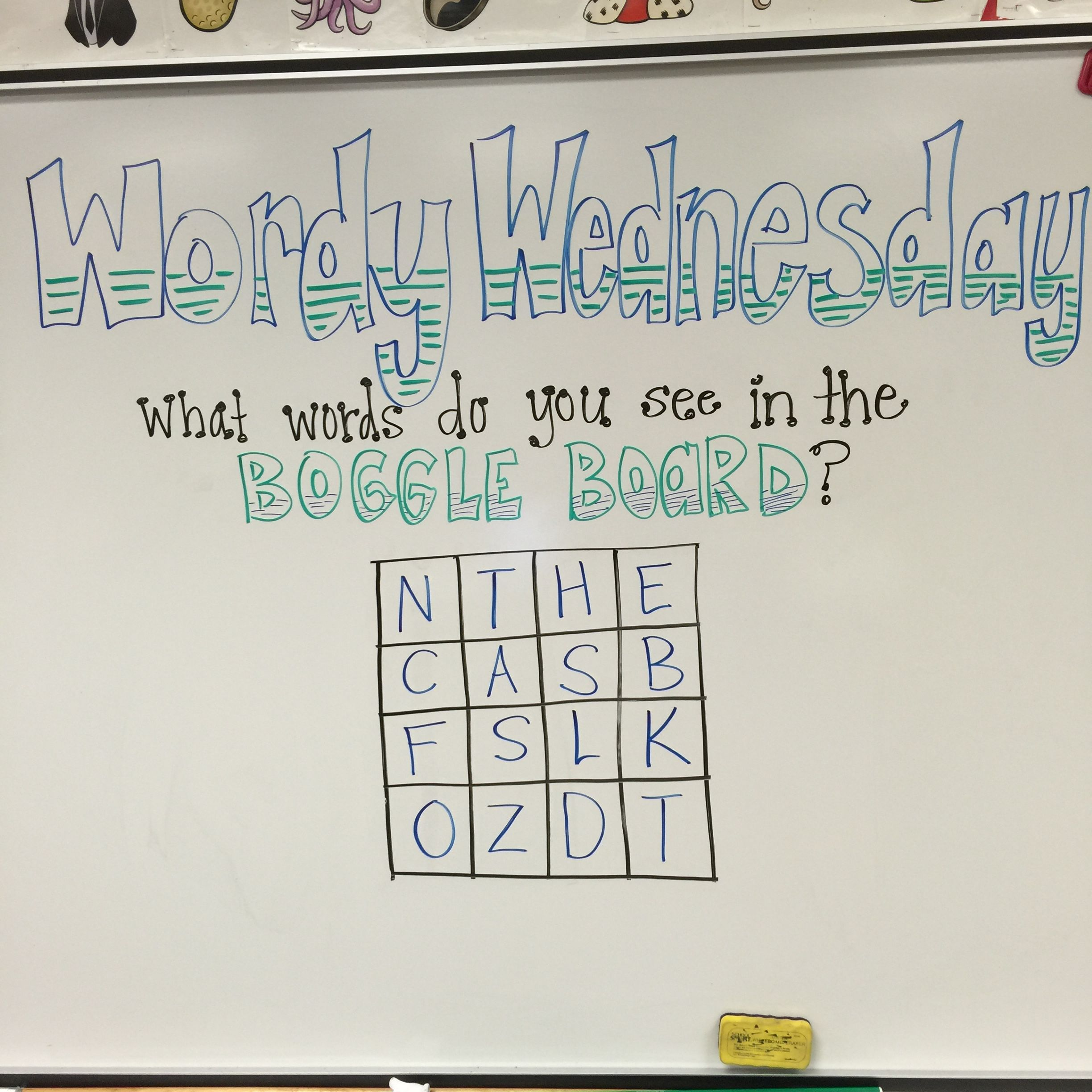 Wordy Wednesday What Words Do You See In The Boggle