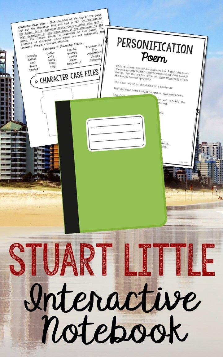 Stuart Little Interactive Notebook Novel Unit Study Activities ...