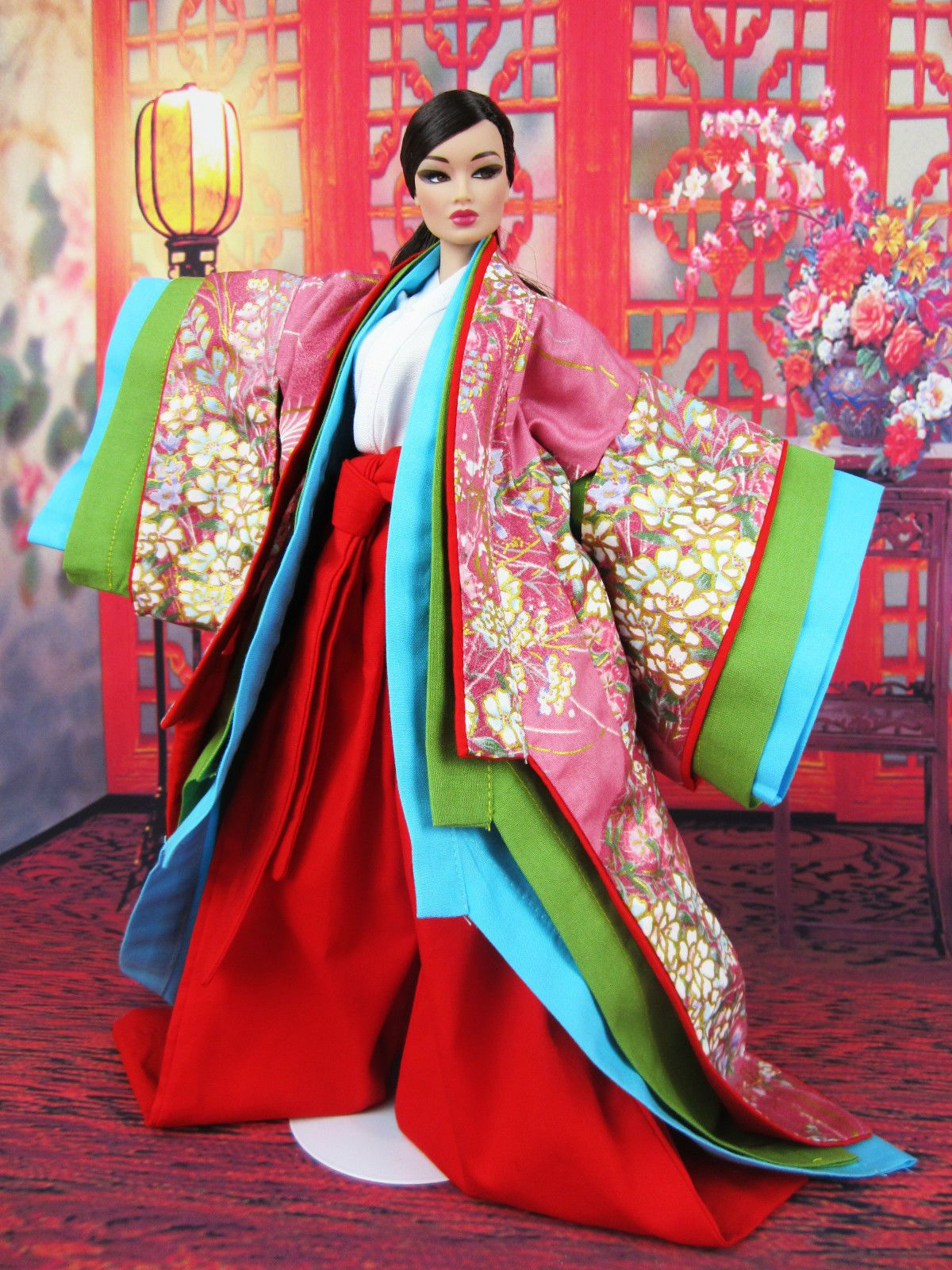 Eaki Black Fur Coat Gown Evening Dress Silkstone Barbie Fashion Royalty FR Jenny