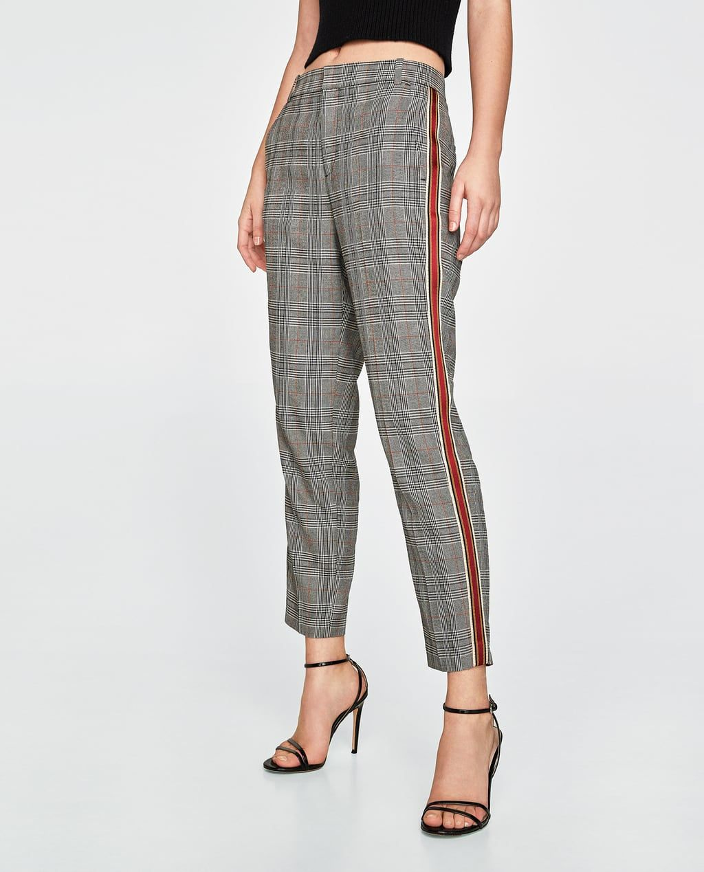 0548e826 Image 7 of CHECKED TROUSERS WITH SIDE STRIPES from Zara | abby ...