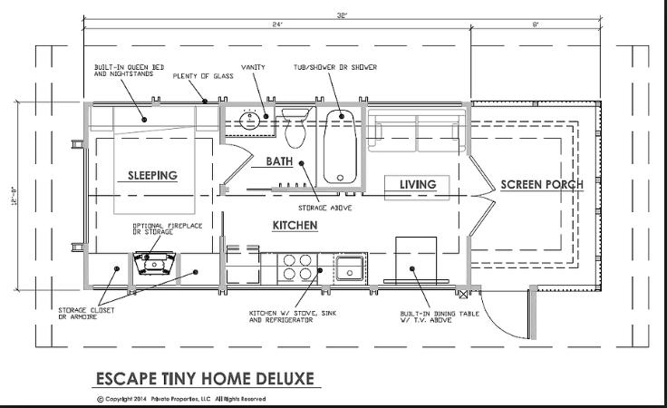 TH plan Tiny house blog, Park model homes, Small tiny house