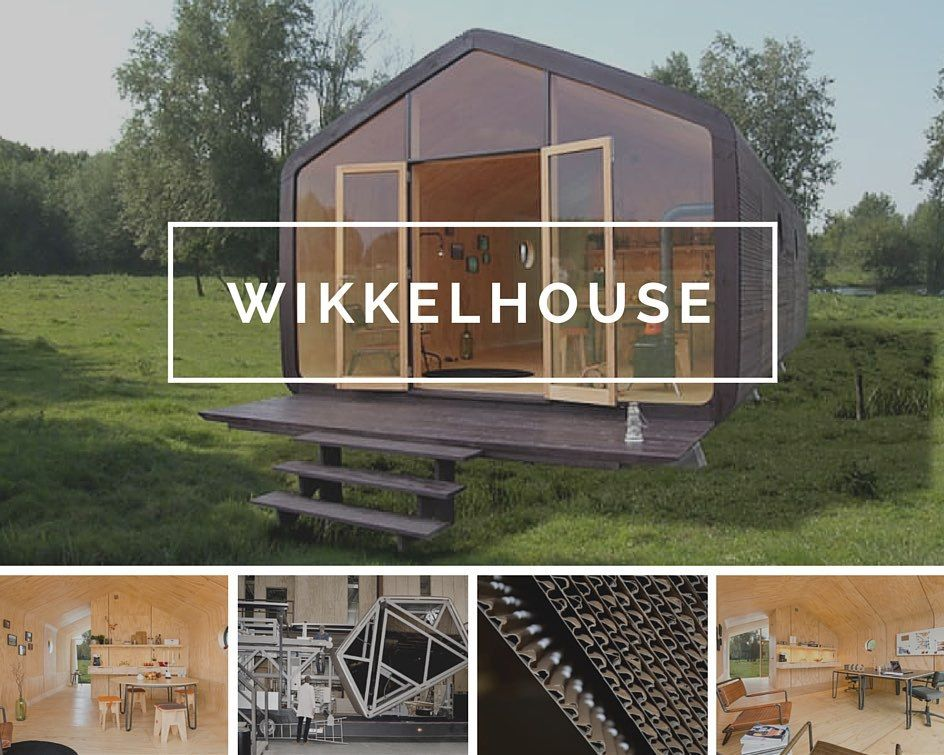 Wikkelhouse es una casa modular de cartón corrugado, fácil de ...