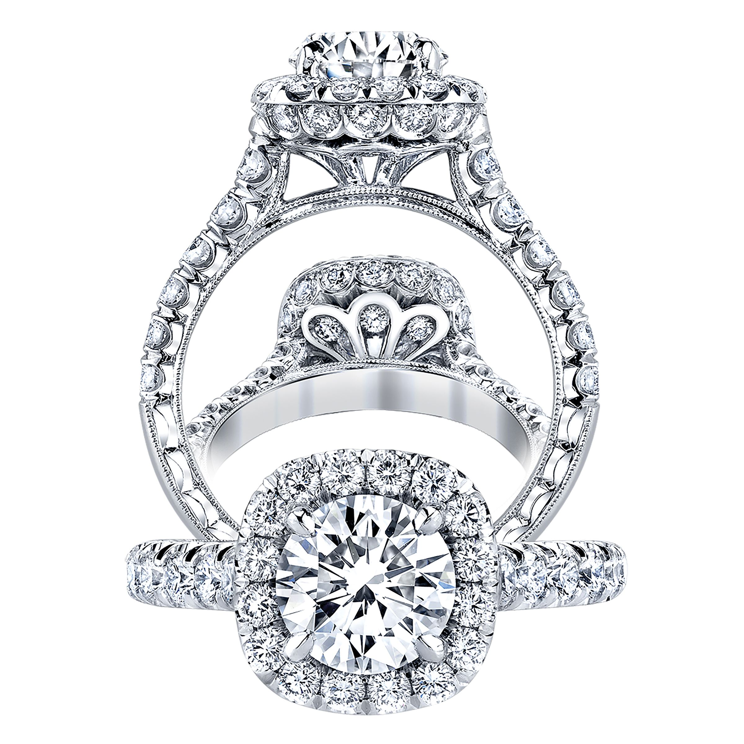 KPR 649 Platinum Engagement Ring Handmade engagement