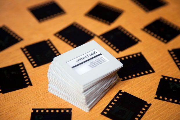 Cómo diseñar unas creativas tarjetas de visita en diapositivas de 35 - tarjetas creativas