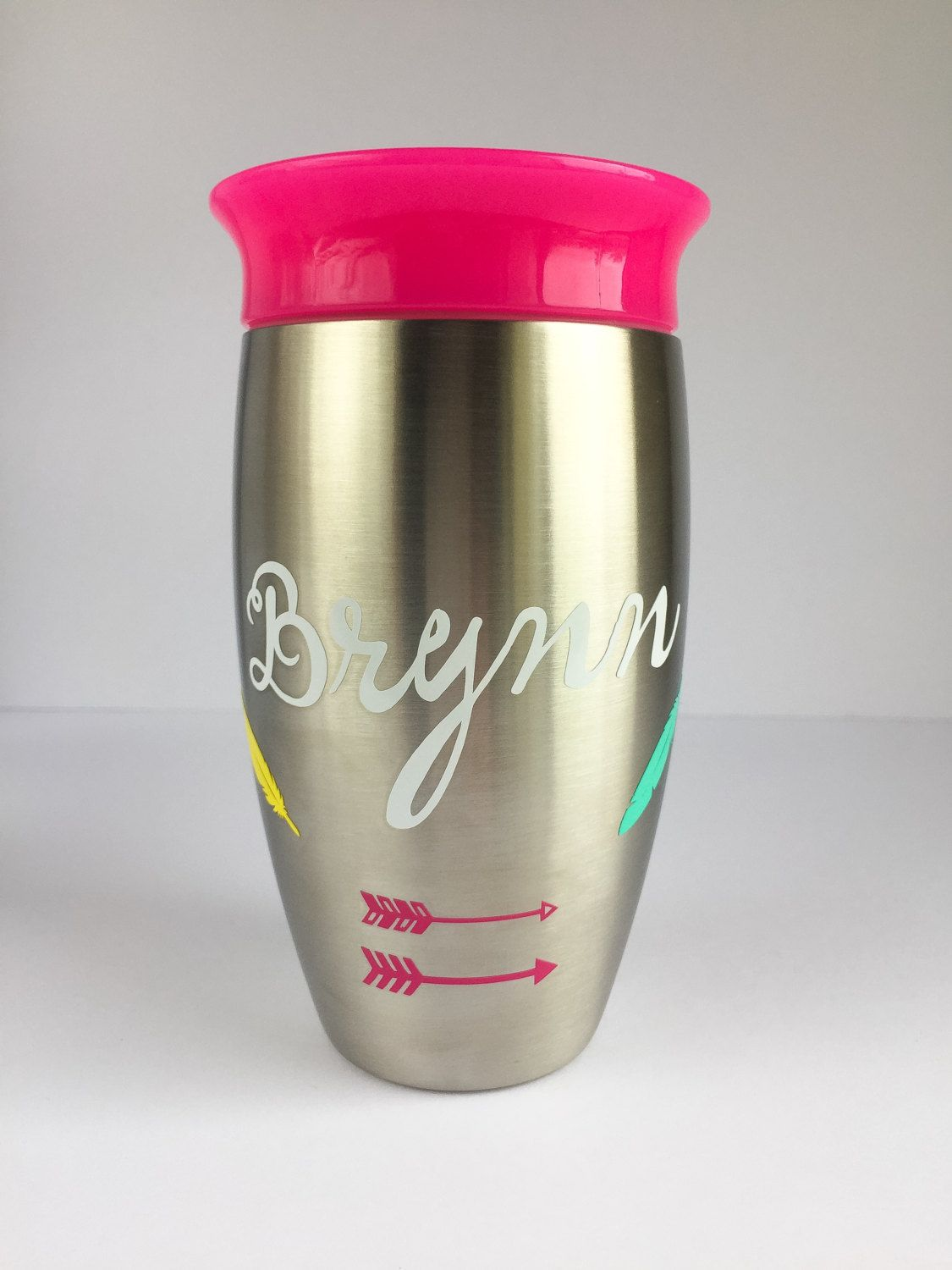 501f053e3f7 Personalized Stainless Kids Cup - Stainless Steel Cup - Miracle Stainless  Steel 360 Sippy Cup - Munchkin Stainless Sippy Cup by AddaLittleCoco on Etsy