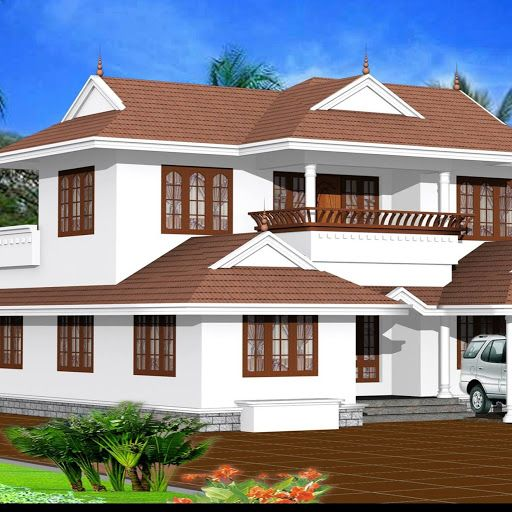 Kerala Model Home Plans: Mixed Roof 5 Bed Rooms House Design