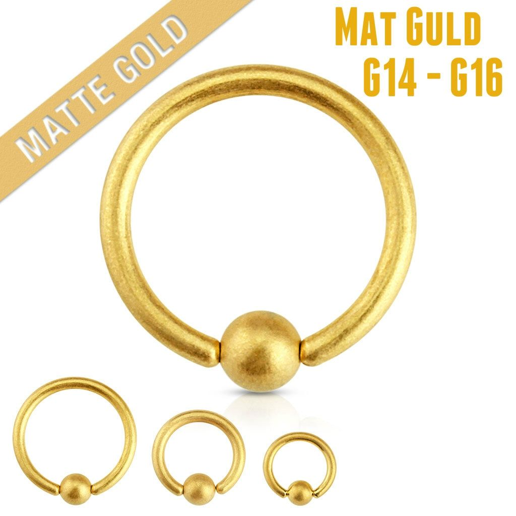 Yellow nose piercing  Piercingpusher Denmark Matte Gold for your Ear or Nose Piercing