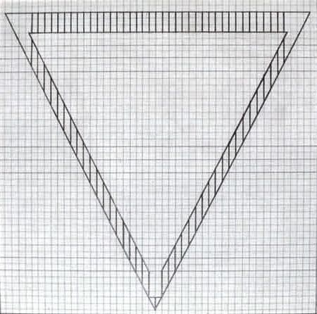 Jo Baer  GraphPaper Drawings Triangle From A Set Of Eight  Jo
