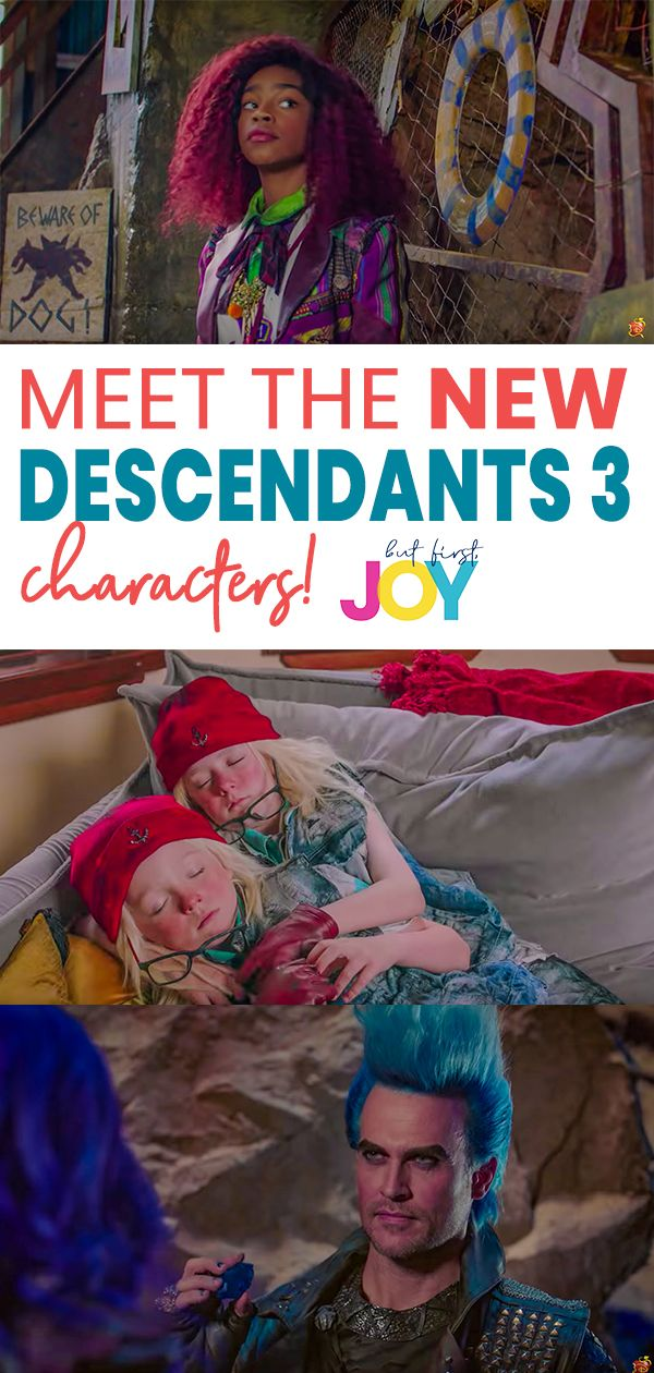 The #Descendants3 trailer just dropped and I'm so excited to see FOUR new Descendants 3 characters + some familiar faces! Check out my breakdown of every Descendants 3 character in this post & read my interviews with the #Descendants2 cast! #descendants3