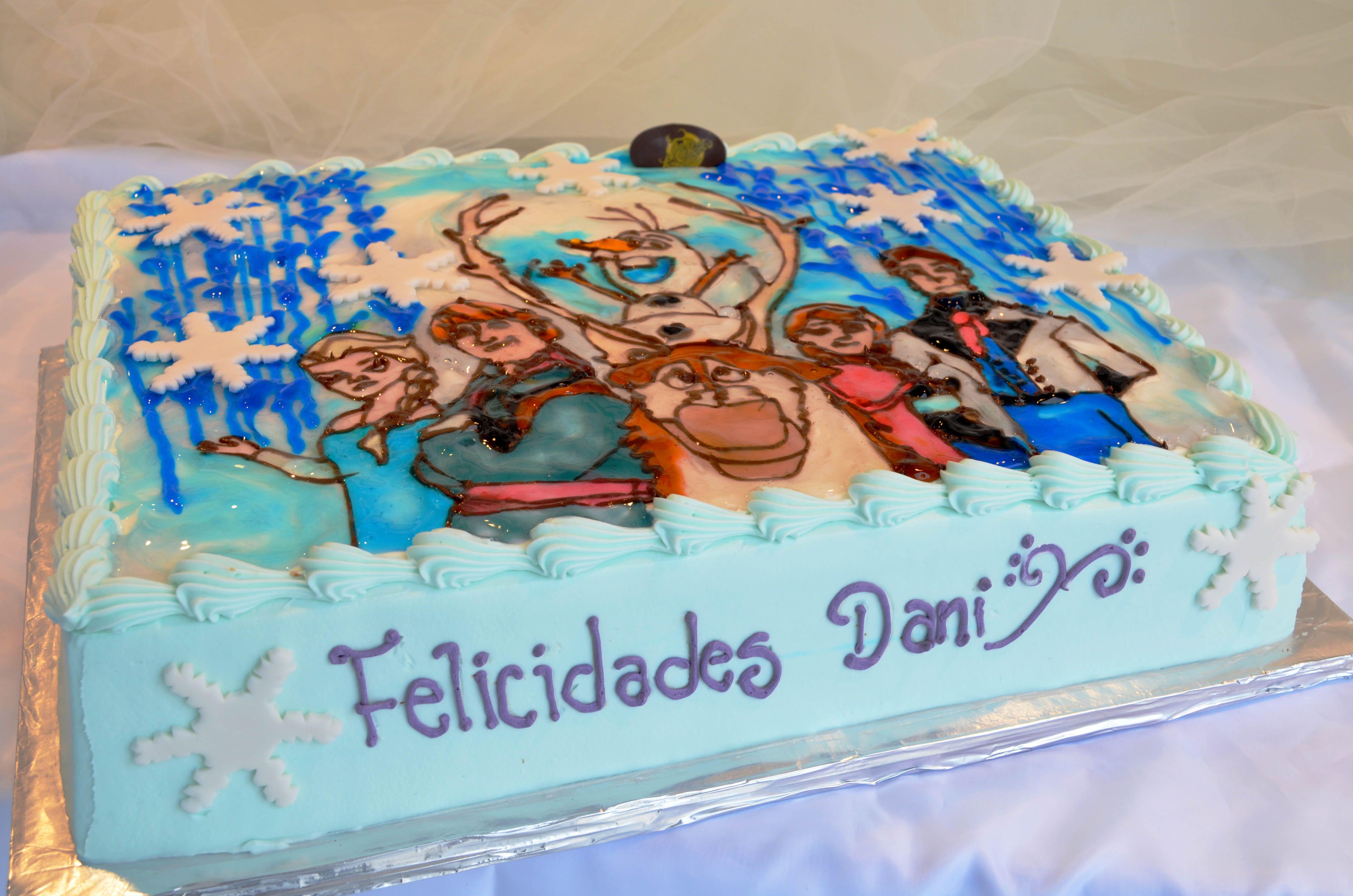 Walmart Disney Frozen Sheet Cake