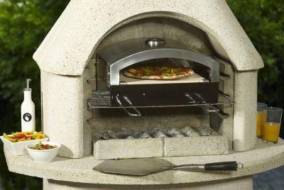 super zum nachrüsten: pizzaofen erweiterung für den grillkamin, Garten und Bauen