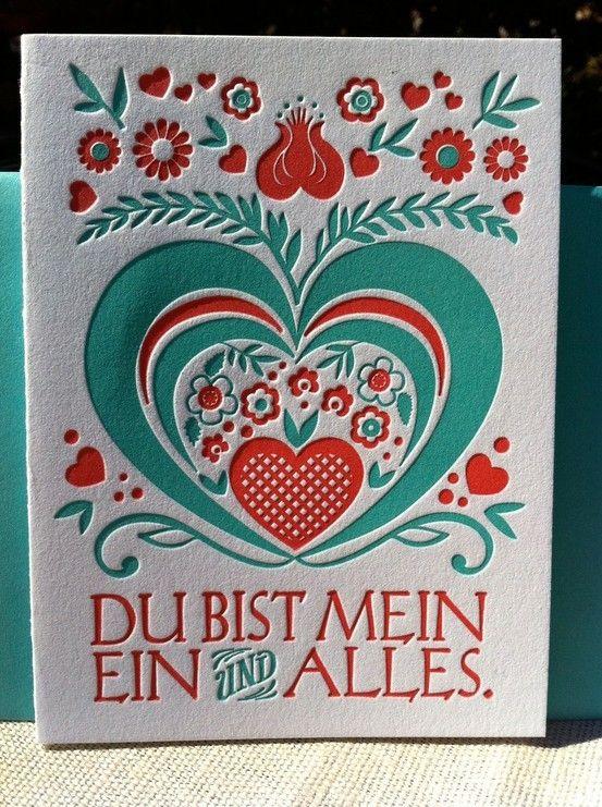 german letterpress card