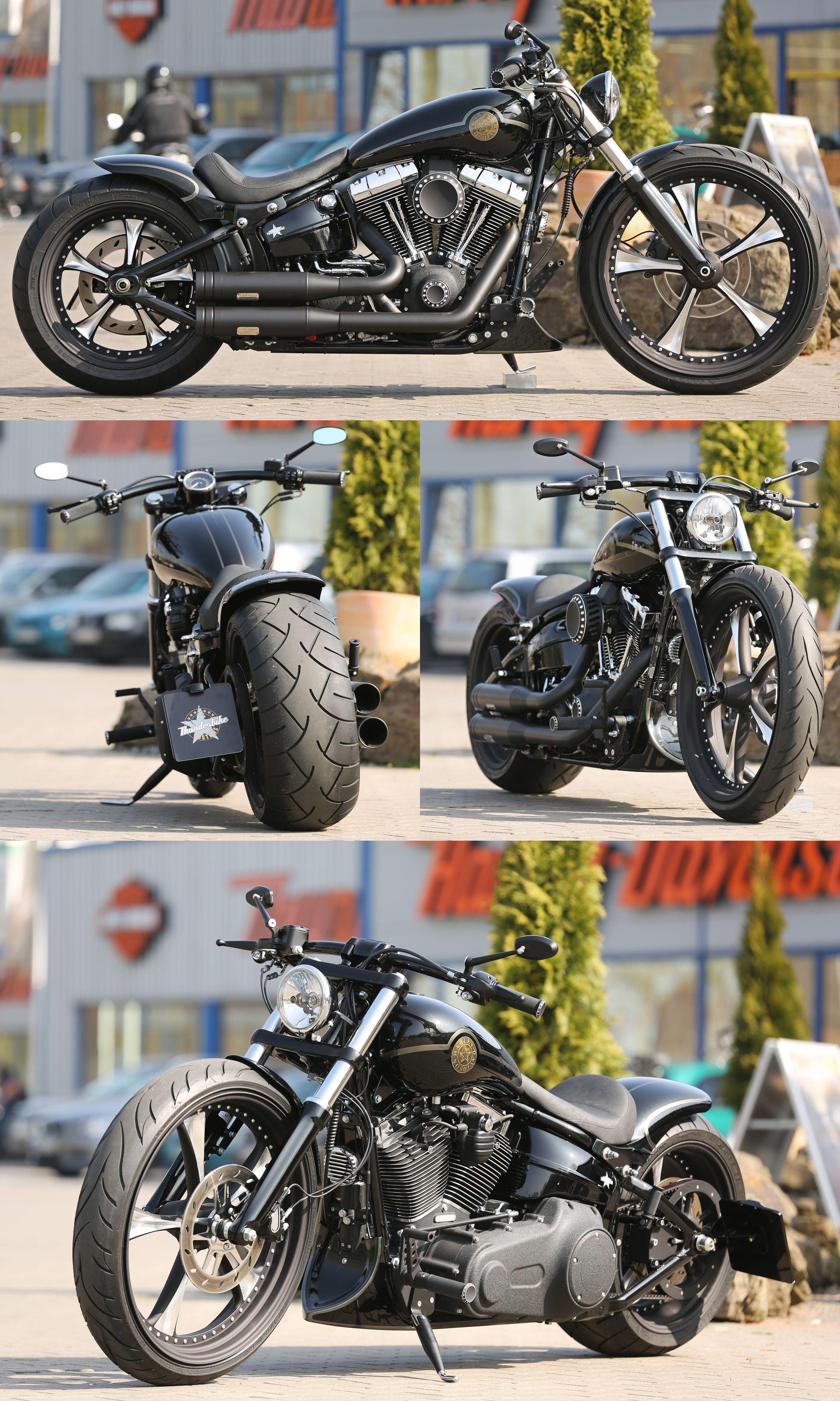 Customized #Harley-Davidson Softail Breakout by Thunderbike