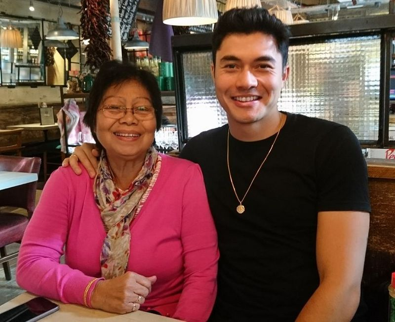 Photo of Henry Golding  & his  Mother  Margaret Likan Golding