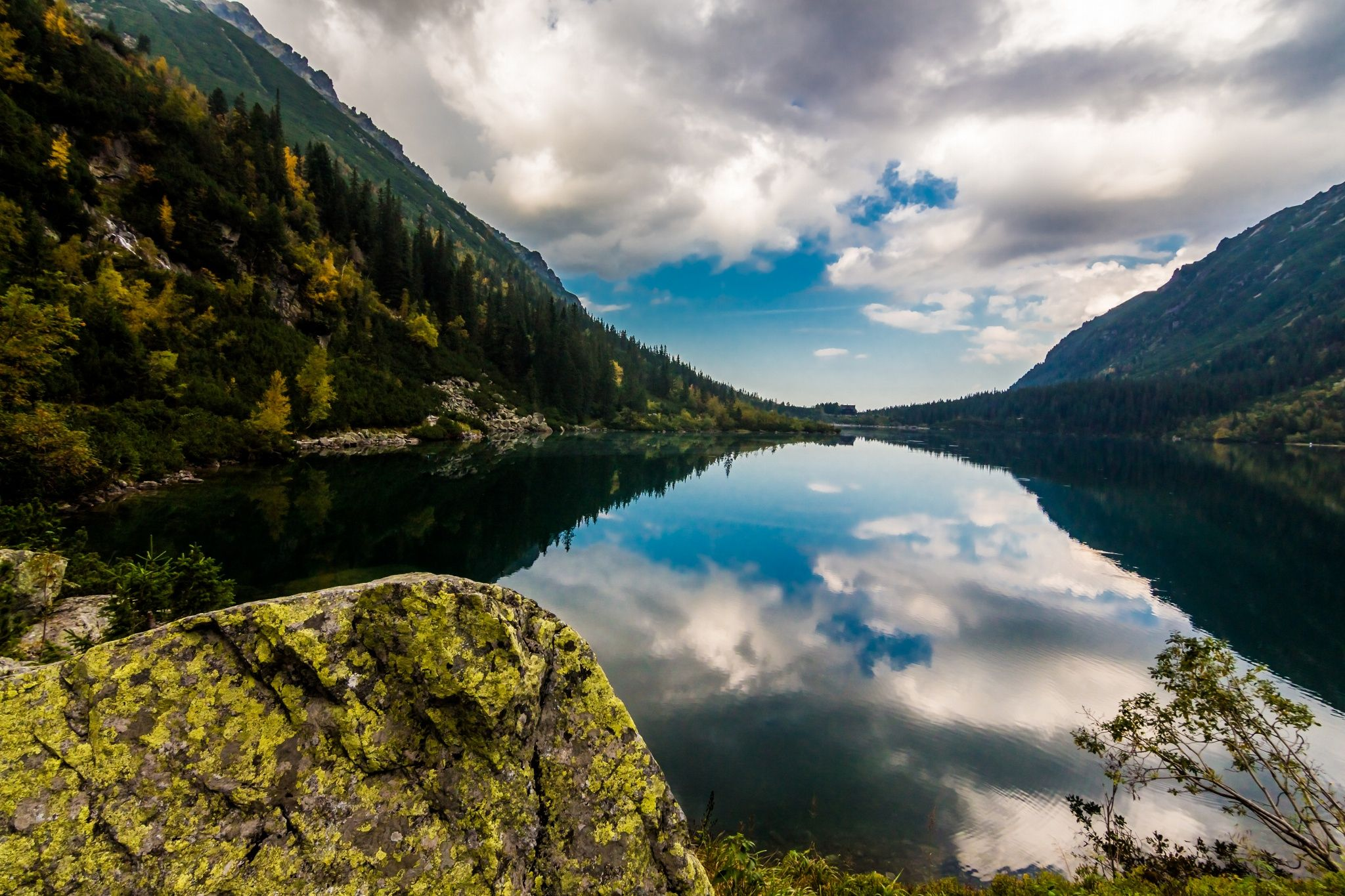 Reflection in Morskie oko lake by Laco Hubaty on 500px