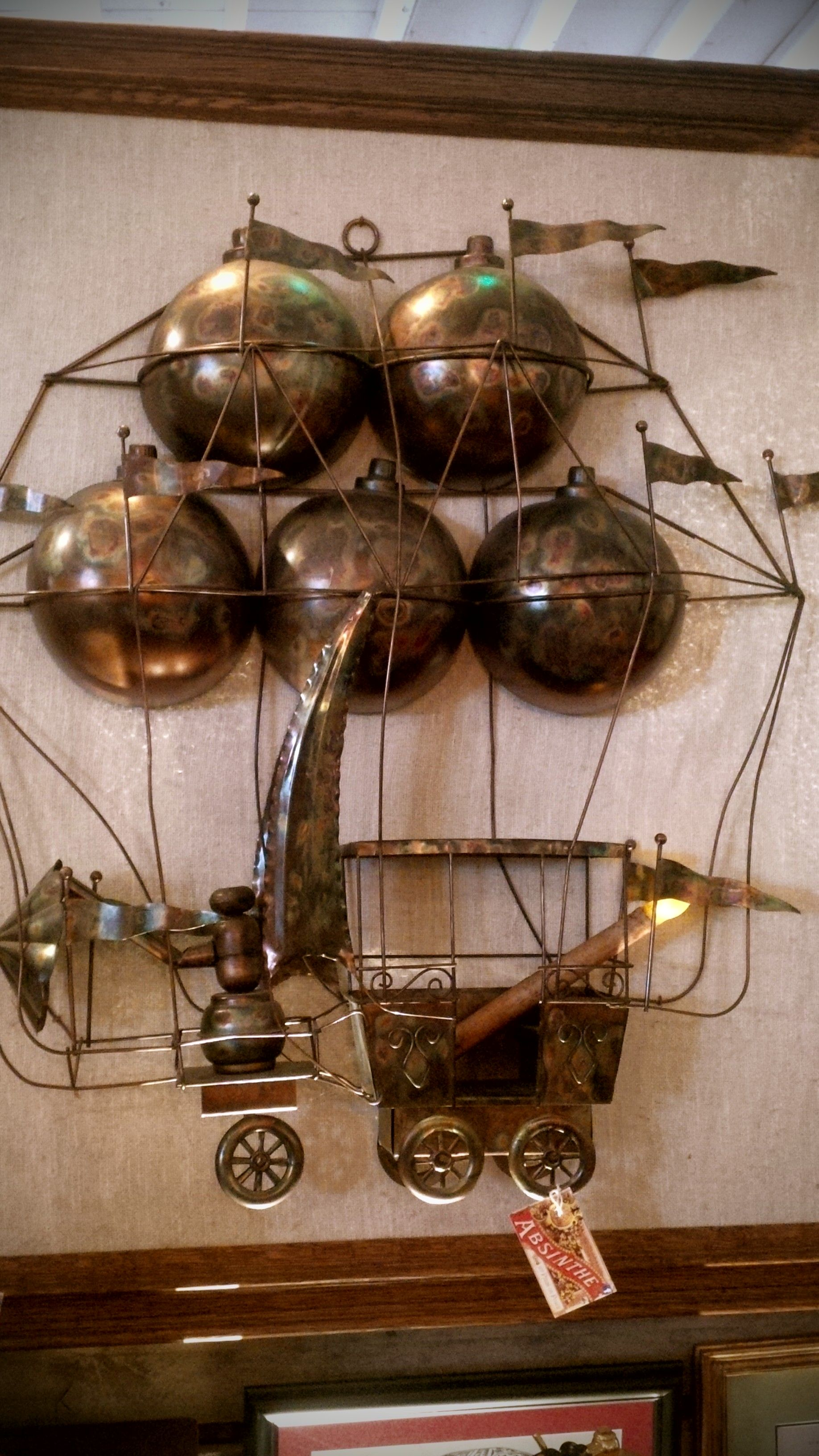 Framed Steampunk hot air balloon.... (With images