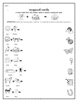 First Grade Language Arts Worksheets (10 pages) | Compound Words ...
