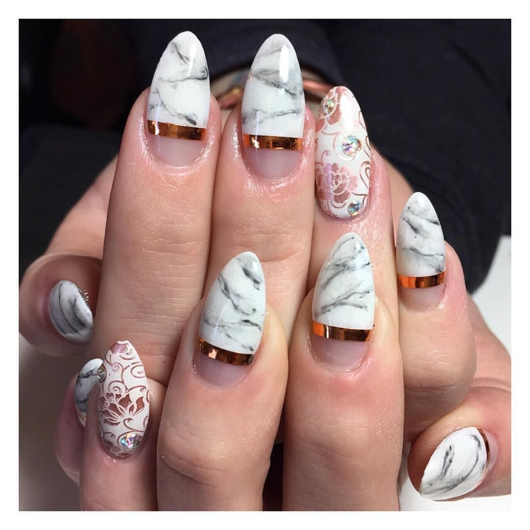 So hot right nail on instagram rose gold marble for the bride so hot right nail on instagram rose gold marble for the bride prinsesfo Gallery
