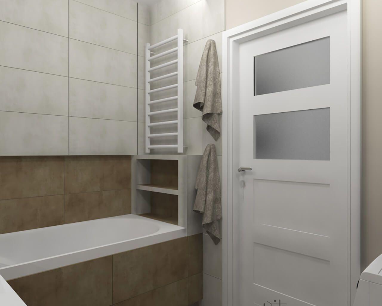 Projekt łazienki We Wnętrzu Mieszkalnym Ceramika Paradyż