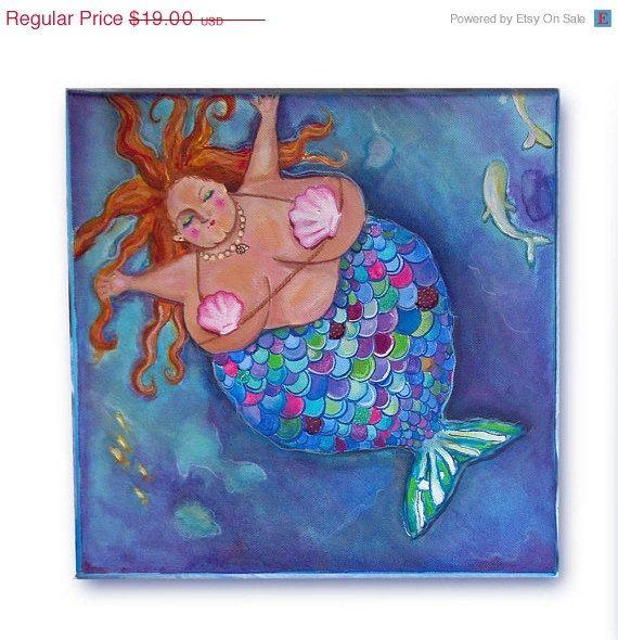Glenda Mermaid art print .. love this!!  Fat one.
