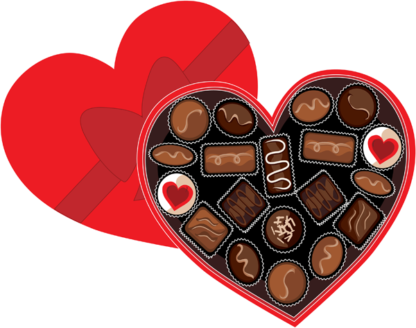 Yummy Clip Art Of A Chocolate Cake Valentines day
