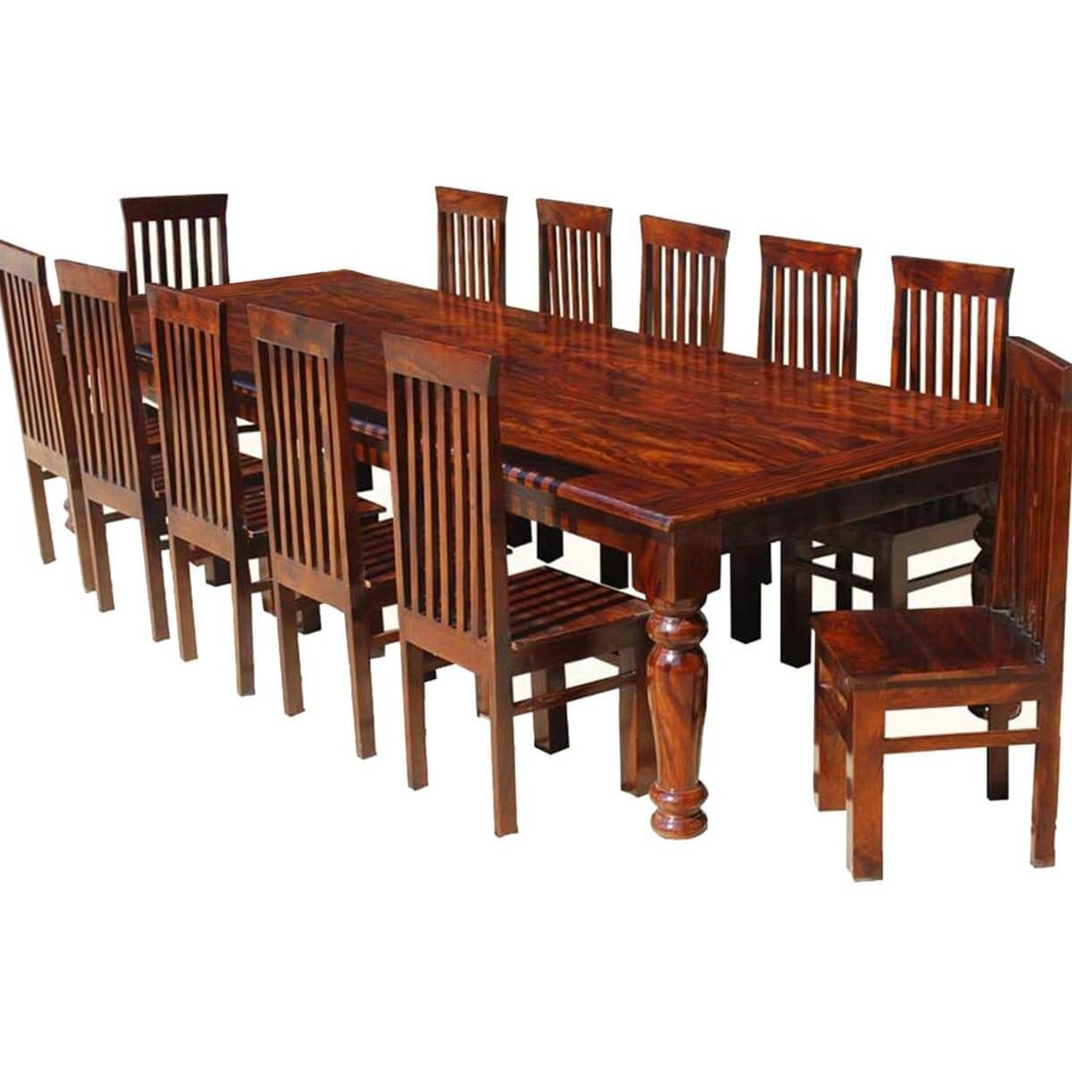 12 Rustic Dining Room Ideas: Clermont Rustic Furniture Solid Wood Large Dining Table