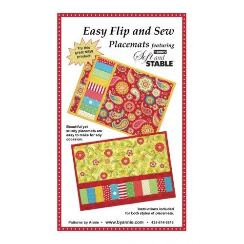 Easy Flip and Sew Placemats Sewing patterns, Quilting