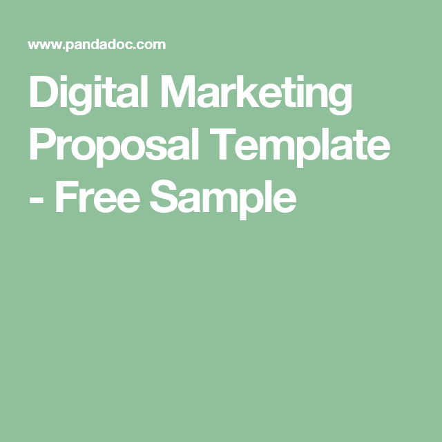 Digital Marketing Proposal Template   Free Sample