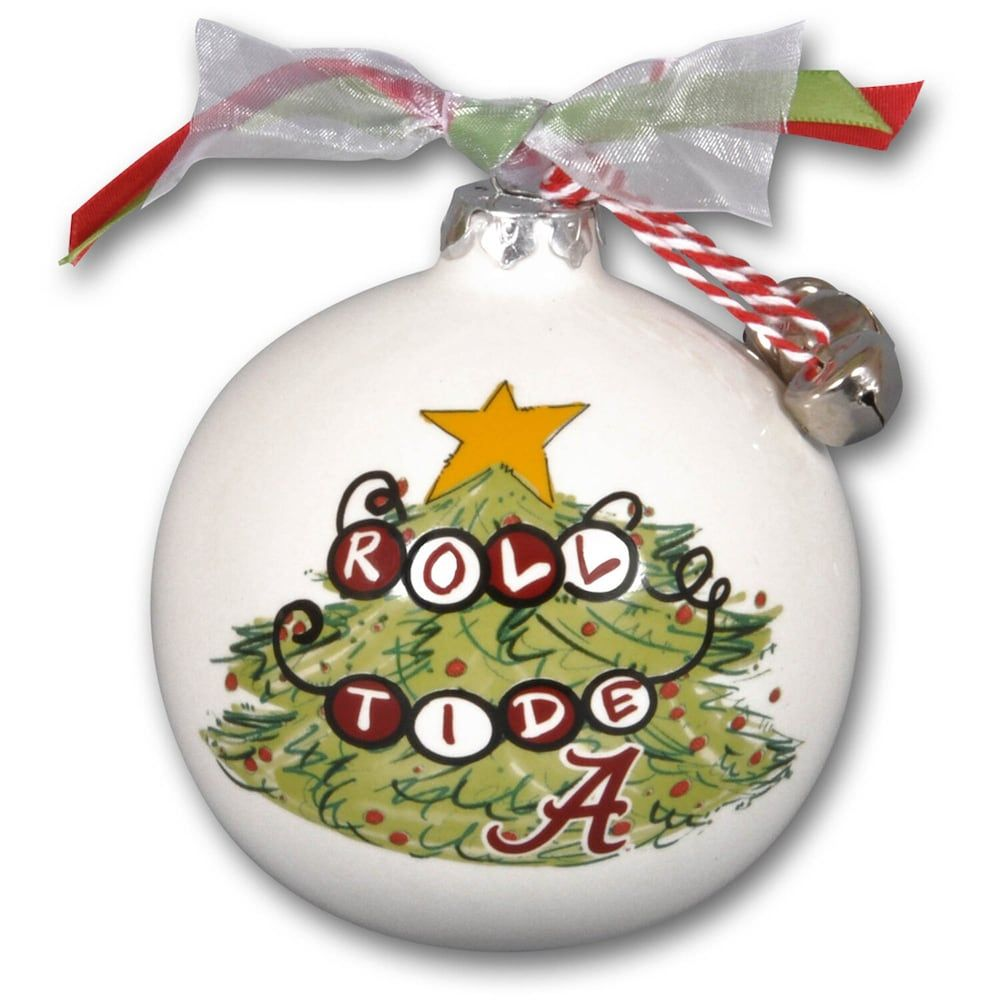 Alabama Crimson Tide Tree Painted Ball Ornament In 2021 Alabama Christmas Diy Christmas Ornaments Hand Painted Ornaments 2021 happy new year christmas ball