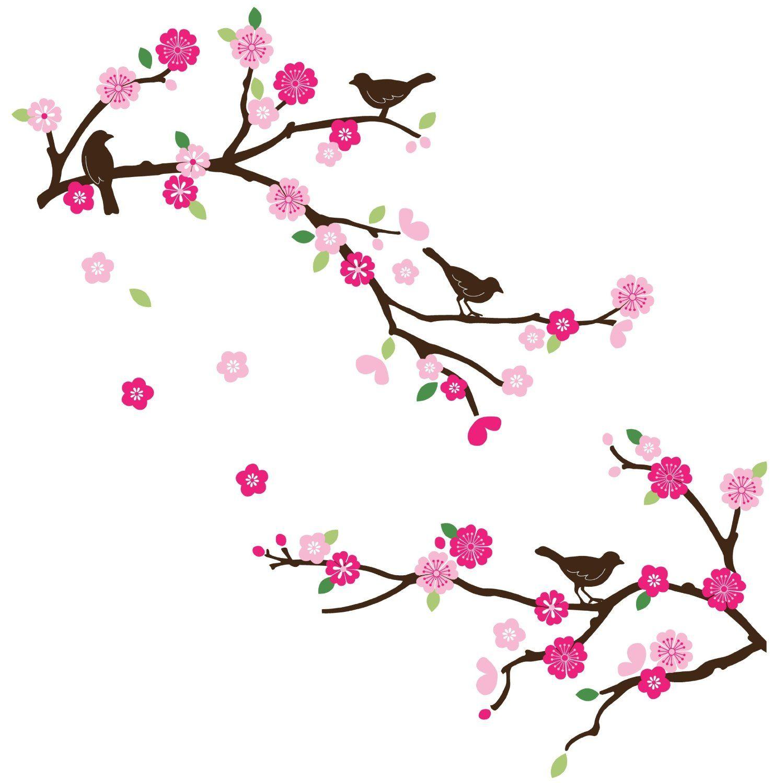 Amazon.com : CherryCreek Decals Cherry Blossom & Birds ...