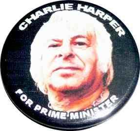 UK Subs Charlie Harper For PM Badge