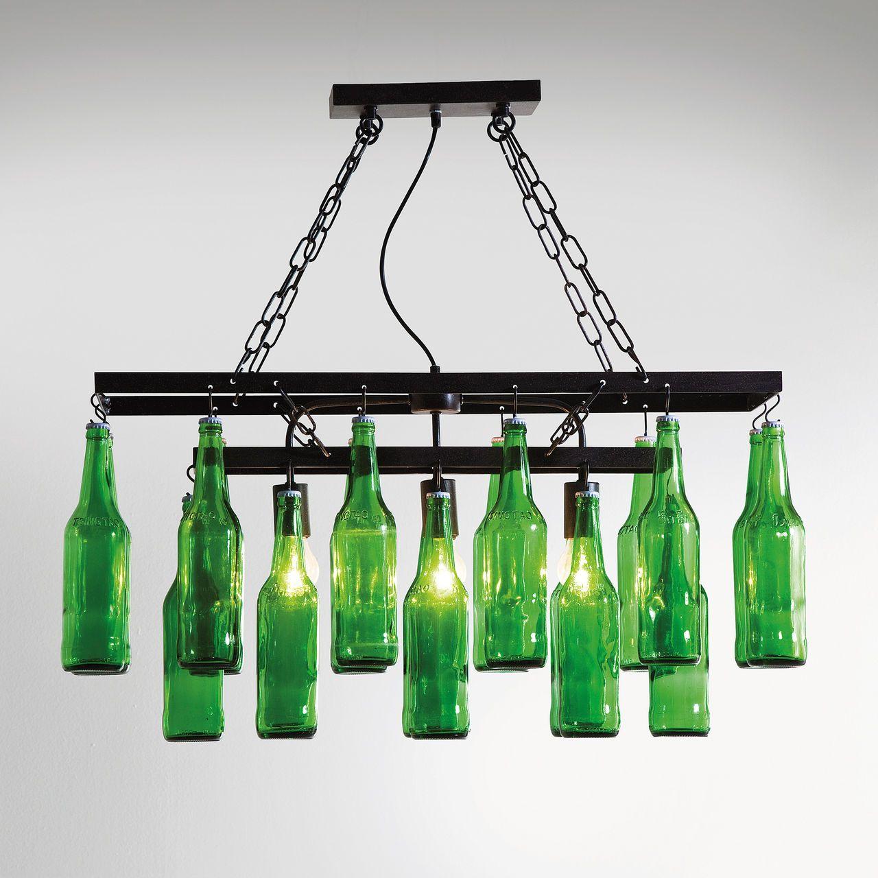 Deckenleuchte Fur Weinkeller Green Bottle Aus Grunem Altglas Flasche Kronleuchter Bierflaschen Lampen