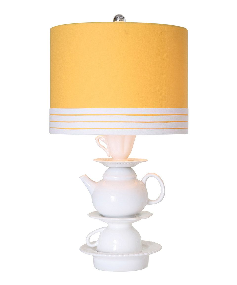 Another great find on #zulily! Yellow Ceramic Teapot Table Lamp by ...