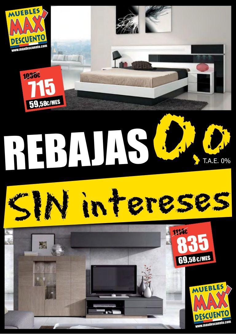 Portada De Folleto 0 0 De Muebles Max Descuento Rebajas De Verano  # Muebles Rebajas
