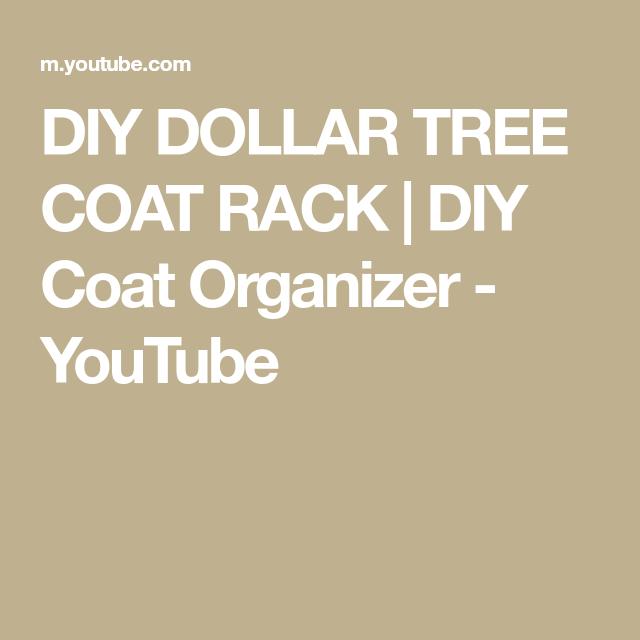 DIY Coat Organizer - YouTube