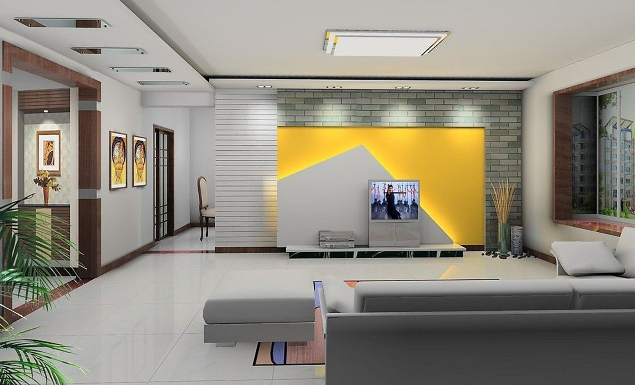 Living Room Tv Wall Design. yellow wood wall unit design model tv on designs