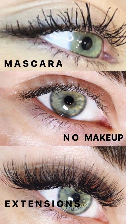 Eyelash Extensions Before And After False Eyelashes