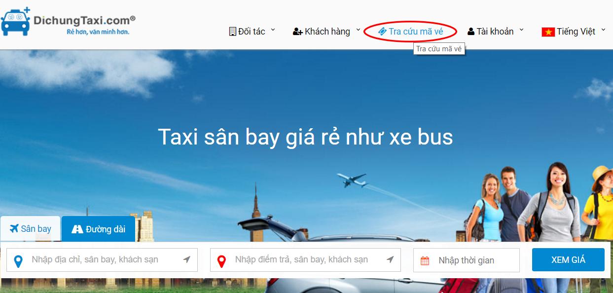 hướng dẫn tra cứ mã vé đặt taxi sân bay giá rẻ