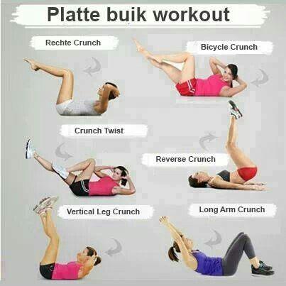 platte buik  buik workout buikspieren oefeningen